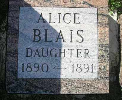 BLAIS, ALICE - Codington County, South Dakota | ALICE BLAIS - South Dakota Gravestone Photos