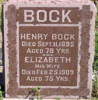 BOCK, ELIZABETH - Codington County, South Dakota   ELIZABETH BOCK - South Dakota Gravestone Photos