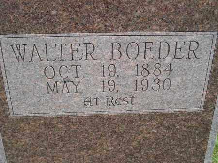 BOEDER, WALTER - Codington County, South Dakota | WALTER BOEDER - South Dakota Gravestone Photos
