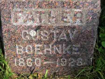 BOEHNKE, GUSTAV - Codington County, South Dakota | GUSTAV BOEHNKE - South Dakota Gravestone Photos