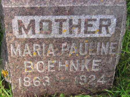 BOEHNKE, MARIA PAULINE - Codington County, South Dakota | MARIA PAULINE BOEHNKE - South Dakota Gravestone Photos