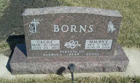 BORNS, CECILE - Codington County, South Dakota | CECILE BORNS - South Dakota Gravestone Photos