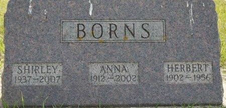 BORNS, HERBERT - Codington County, South Dakota | HERBERT BORNS - South Dakota Gravestone Photos