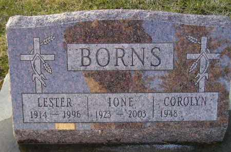BORNS, LESTER - Codington County, South Dakota | LESTER BORNS - South Dakota Gravestone Photos