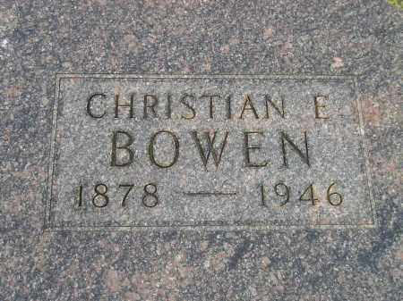 BOWEN, CHRISTIAN E. - Codington County, South Dakota | CHRISTIAN E. BOWEN - South Dakota Gravestone Photos