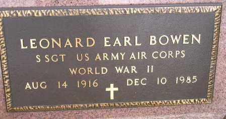 BOWEN, LEONARD EARL (WW II) - Codington County, South Dakota | LEONARD EARL (WW II) BOWEN - South Dakota Gravestone Photos
