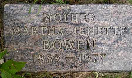 BRAKEN BOWEN, MARTHA JENETTE - Codington County, South Dakota | MARTHA JENETTE BRAKEN BOWEN - South Dakota Gravestone Photos