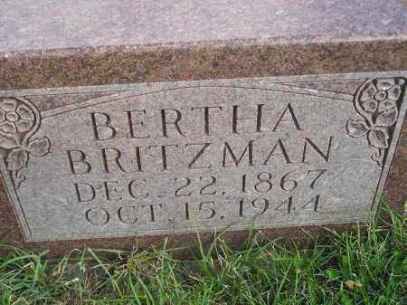 BRITZMAN, BERTHA - Codington County, South Dakota | BERTHA BRITZMAN - South Dakota Gravestone Photos
