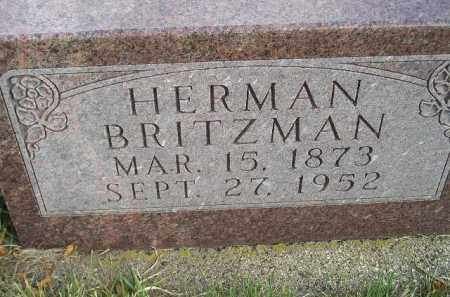 BRITZMAN, HERMAN - Codington County, South Dakota | HERMAN BRITZMAN - South Dakota Gravestone Photos