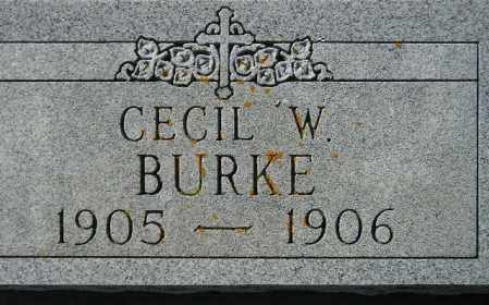 BURKE, CECIL W. - Codington County, South Dakota | CECIL W. BURKE - South Dakota Gravestone Photos