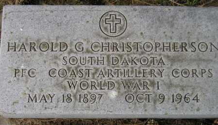 CHRISTOPHERSON, HAROLD G. - Codington County, South Dakota | HAROLD G. CHRISTOPHERSON - South Dakota Gravestone Photos
