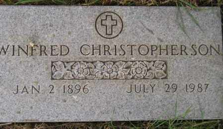 CHRISTOPHERSON, WINFRED - Codington County, South Dakota | WINFRED CHRISTOPHERSON - South Dakota Gravestone Photos