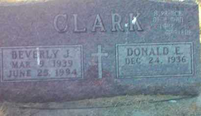 CLARK, DONALD E. - Codington County, South Dakota | DONALD E. CLARK - South Dakota Gravestone Photos