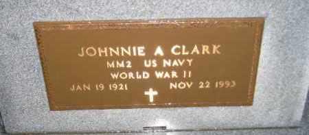 CLARK, JOHNNIE A. (WW II) - Codington County, South Dakota | JOHNNIE A. (WW II) CLARK - South Dakota Gravestone Photos