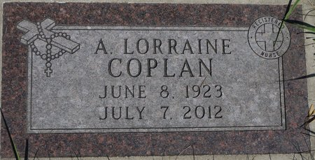 COPLAN, A. LORRAINE - Codington County, South Dakota | A. LORRAINE COPLAN - South Dakota Gravestone Photos