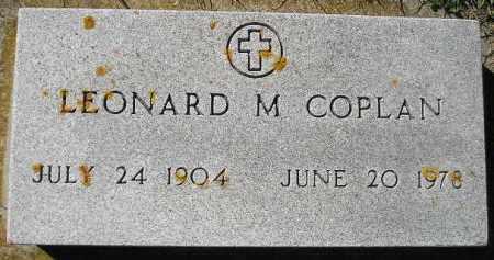 COPLAN, LEONARD M. - Codington County, South Dakota   LEONARD M. COPLAN - South Dakota Gravestone Photos