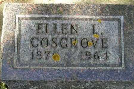 COSGROVE, ELLEN L. - Codington County, South Dakota | ELLEN L. COSGROVE - South Dakota Gravestone Photos