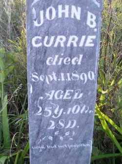 CURRIE, JOHN B. - Codington County, South Dakota | JOHN B. CURRIE - South Dakota Gravestone Photos