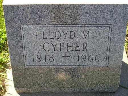 CYPHER, LLOYD MANFIELD - Codington County, South Dakota   LLOYD MANFIELD CYPHER - South Dakota Gravestone Photos