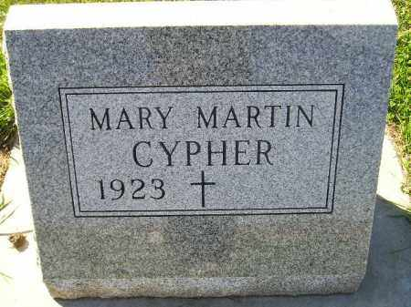 CYPHER, MARY - Codington County, South Dakota | MARY CYPHER - South Dakota Gravestone Photos