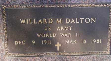 DALTON, WILLARD M. (WW II) - Codington County, South Dakota   WILLARD M. (WW II) DALTON - South Dakota Gravestone Photos