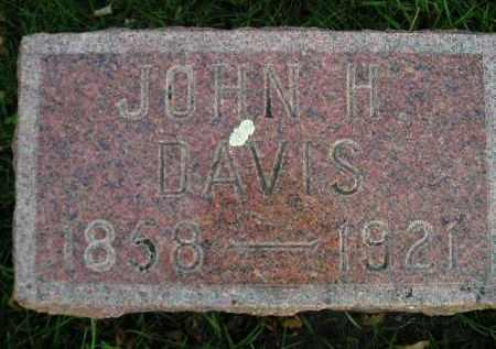 DAVIS, JOHN H. - Codington County, South Dakota | JOHN H. DAVIS - South Dakota Gravestone Photos