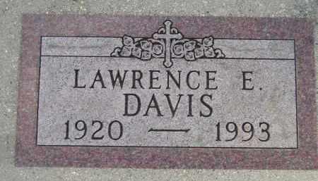 DAVIS, LAWRENCE E. - Codington County, South Dakota | LAWRENCE E. DAVIS - South Dakota Gravestone Photos