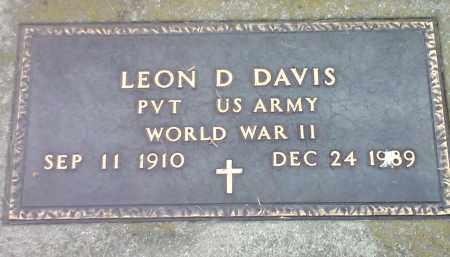 DAVIS, LEON D (MILITARY) - Codington County, South Dakota | LEON D (MILITARY) DAVIS - South Dakota Gravestone Photos