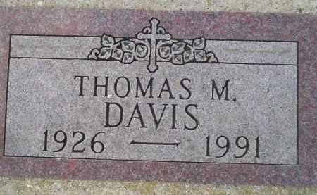 DAVIS, THOMAS M. - Codington County, South Dakota | THOMAS M. DAVIS - South Dakota Gravestone Photos