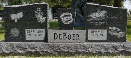 DEBOER, BRIAN O. - Codington County, South Dakota | BRIAN O. DEBOER - South Dakota Gravestone Photos