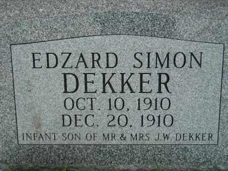 DEKKER, EDZARD SIMON - Codington County, South Dakota | EDZARD SIMON DEKKER - South Dakota Gravestone Photos