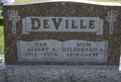 DEVILLE, ALBERT A. - Codington County, South Dakota | ALBERT A. DEVILLE - South Dakota Gravestone Photos