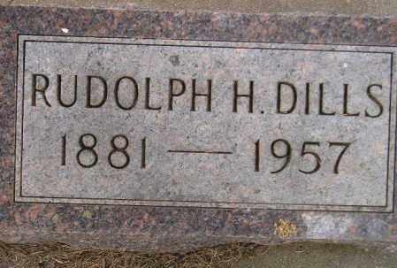 DILLS, RUDOLPH H. - Codington County, South Dakota | RUDOLPH H. DILLS - South Dakota Gravestone Photos