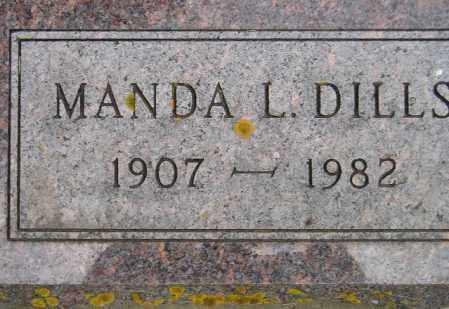 DILLS, MANDA LAURA - Codington County, South Dakota   MANDA LAURA DILLS - South Dakota Gravestone Photos