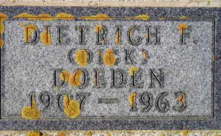 DOEDEN, DIETRICH F. - Codington County, South Dakota | DIETRICH F. DOEDEN - South Dakota Gravestone Photos