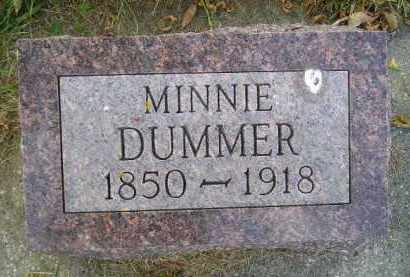 DUMMER, MINNIE - Codington County, South Dakota | MINNIE DUMMER - South Dakota Gravestone Photos