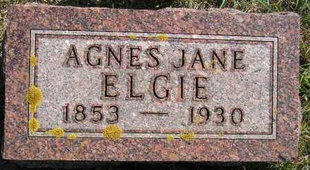 ELGIE, AGNES JANE - Codington County, South Dakota | AGNES JANE ELGIE - South Dakota Gravestone Photos