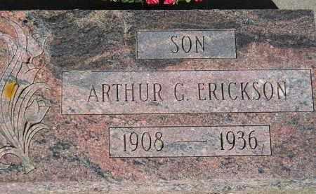ERICKSON, ARTHUR G. - Codington County, South Dakota | ARTHUR G. ERICKSON - South Dakota Gravestone Photos