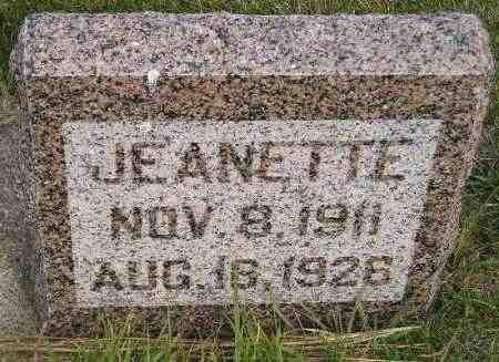 GANFIELD, JEANETTE - Codington County, South Dakota | JEANETTE GANFIELD - South Dakota Gravestone Photos