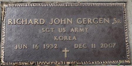 GERGEN, RICHARD JOHN (MILITARY) - Codington County, South Dakota | RICHARD JOHN (MILITARY) GERGEN - South Dakota Gravestone Photos