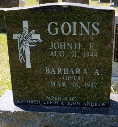 GOINS, JOHNIE E. - Codington County, South Dakota   JOHNIE E. GOINS - South Dakota Gravestone Photos