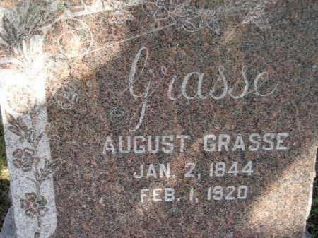GRASSE, AUGUST - Codington County, South Dakota | AUGUST GRASSE - South Dakota Gravestone Photos