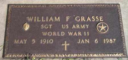GRASSE, WILLIAM F. (WW II) - Codington County, South Dakota | WILLIAM F. (WW II) GRASSE - South Dakota Gravestone Photos