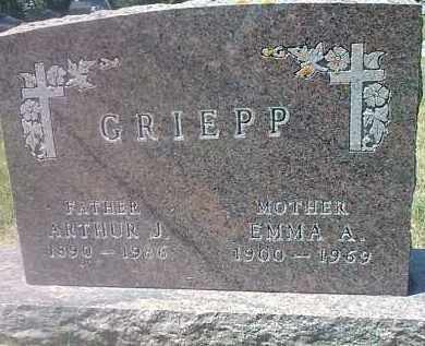 GRIEPP, EMMA A - Codington County, South Dakota | EMMA A GRIEPP - South Dakota Gravestone Photos