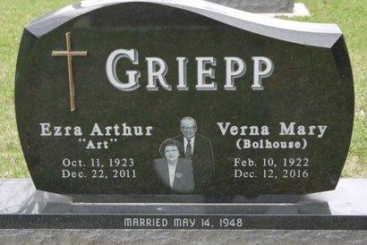 GRIEPP, VERNA MARY - Codington County, South Dakota   VERNA MARY GRIEPP - South Dakota Gravestone Photos