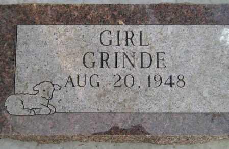 GRINDE, BABY GIRL - Codington County, South Dakota   BABY GIRL GRINDE - South Dakota Gravestone Photos