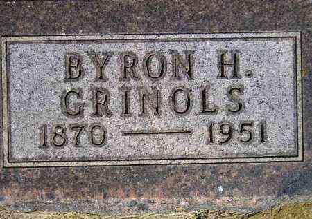 GRINOLS, BYRON H. - Codington County, South Dakota | BYRON H. GRINOLS - South Dakota Gravestone Photos