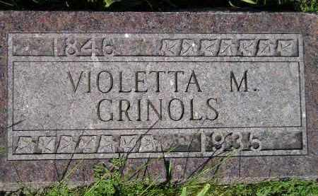 GRINOLS, VIOLETTA M. - Codington County, South Dakota | VIOLETTA M. GRINOLS - South Dakota Gravestone Photos