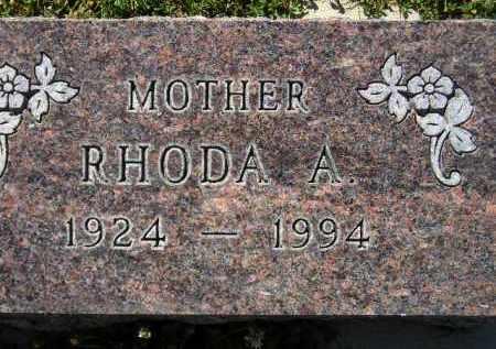 GUNDERSON, RHODA A. - Codington County, South Dakota | RHODA A. GUNDERSON - South Dakota Gravestone Photos