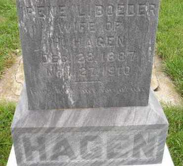 BOEDER HAGEN, IRENE L. - Codington County, South Dakota | IRENE L. BOEDER HAGEN - South Dakota Gravestone Photos